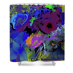 Abstract Flowers Of Light Series #18 Shower Curtain