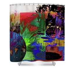 Abstract Flowers Of Light Series #19 Shower Curtain