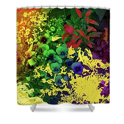 Abstract Flowers Of Light Series #2 Shower Curtain