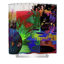 Abstract Flowers Of Light Series #21 Shower Curtain