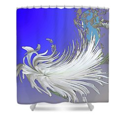 Abstract Flowers Of Light Series #4 Shower Curtain