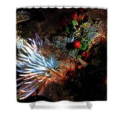 Abstract Flowers Of Light Series #5 Shower Curtain