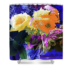 Abstract Flowers Of Light Series #7 Shower Curtain