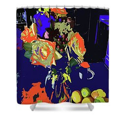 Abstract Flowers Of Light Series #8 Shower Curtain