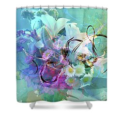 Abstract Flowers Of Light Series #9 Shower Curtain