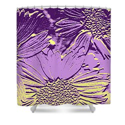 Abstract Flowers 3 Shower Curtain