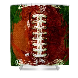 Abstract Football Shower Curtain by David G Paul