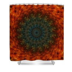 Abstract Fractal  Shower Curtain