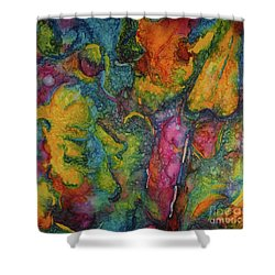 Abstract From Kansas City Shower Curtain by Jacqueline Phillips-Weatherly