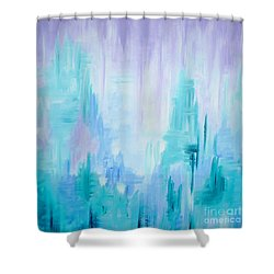 Abstract Frost 1 Shower Curtain