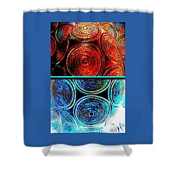 Shower Curtain featuring the digital art Abstract Fusion 275 by Will Borden