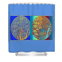 Shower Curtain featuring the digital art Abstract Fusion 276 by Will Borden