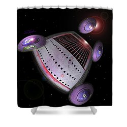 Abstract Future Shower Curtain by Charles Stuart