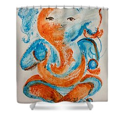 Abstract Ganesha Shower Curtain