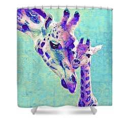 Abstract Giraffes Shower Curtain by Jane Schnetlage
