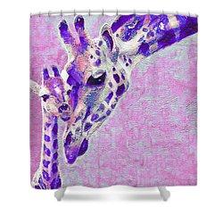 Abstract Giraffes2 Shower Curtain