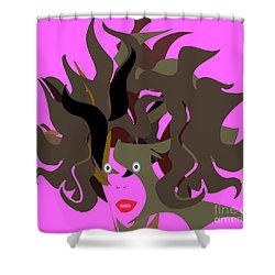 Abstract Glamour Shower Curtain