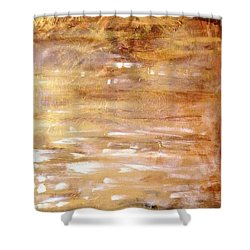 Abstract Golden Sunrise Beach  Shower Curtain