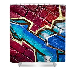 Shower Curtain featuring the painting Abstract Graffiti Arrow by Yurix Sardinelly
