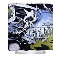 Abstract Graffiti Detail Shower Curtain