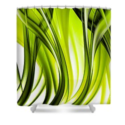 Abstract Green Grass Look Shower Curtain