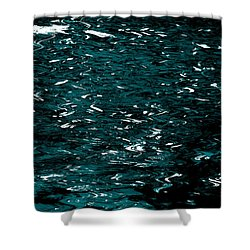 Shower Curtain featuring the photograph Abstract Green Reflections by Gary Smith