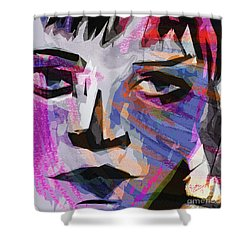 Abstract Harlequin Mixed Media Shower Curtain
