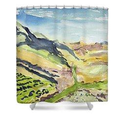 Abstract Hillside Shower Curtain