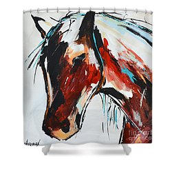 Abstract Horse 15 Shower Curtain