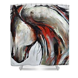 Abstract Horse 21 Shower Curtain