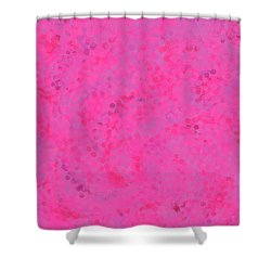 Shower Curtain featuring the mixed media Abstract Hot Pink And Lilac 4 by Clare Bambers
