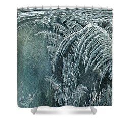 Abstract Ice Crystals Shower Curtain