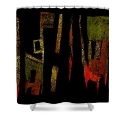 Shower Curtain featuring the painting Abstract II - 19dec2016 by Jim Vance