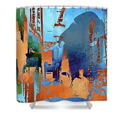 Abstract  Images Of Urban Landscape Series #1 Shower Curtain