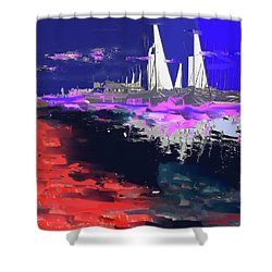 Abstract  Images Of Urban Landscape Series #14 Shower Curtain