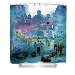 Abstract  Images Of Urban Landscape Series #9 Shower Curtain