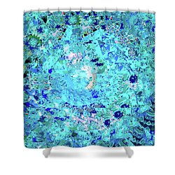 Abstract In Blue No. 56-2 Shower Curtain
