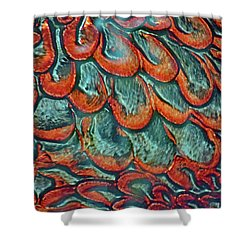 Abstract In Copper And Blue No. 7-1 Shower Curtain