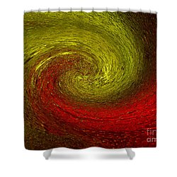 Shower Curtain featuring the photograph Abstract In Ice by Trena Mara