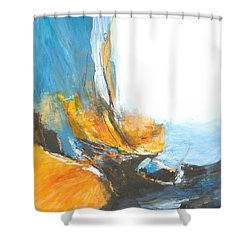 Abstract In Motion Shower Curtain by Glory Wood