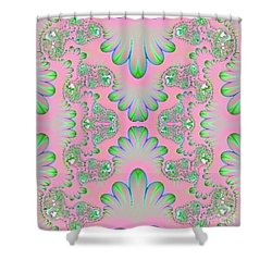 Shower Curtain featuring the digital art Abstract In Pastels by Linda Phelps
