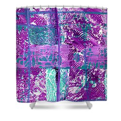 Abstract In Purple And Teal Shower Curtain