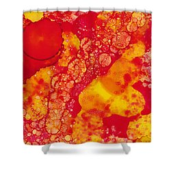 Shower Curtain featuring the painting Abstract Intensity by Nikki Marie Smith