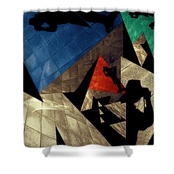 Shower Curtain featuring the photograph Abstract Iterations by Wayne Sherriff