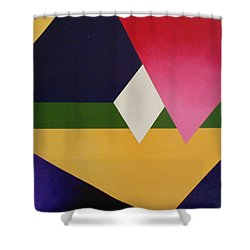 Shower Curtain featuring the painting Abstract by Jamie Frier