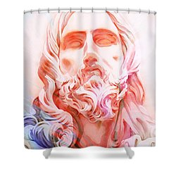 Shower Curtain featuring the painting Abstract Jesus 1 by J- J- Espinoza