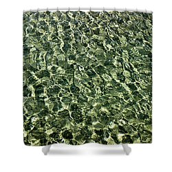 Shower Curtain featuring the photograph Abstract Lake Reflections by LeeAnn McLaneGoetz McLaneGoetzStudioLLCcom