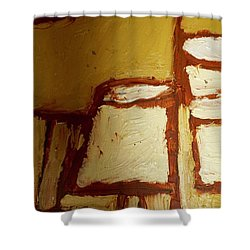 Abstract Lamp Number 4 Shower Curtain