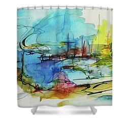 Abstract Landscape #1 Shower Curtain