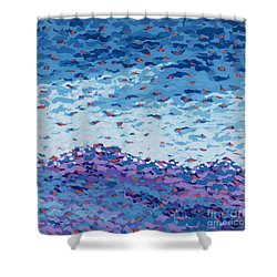 Abstract Landscape Painting 2 Shower Curtain